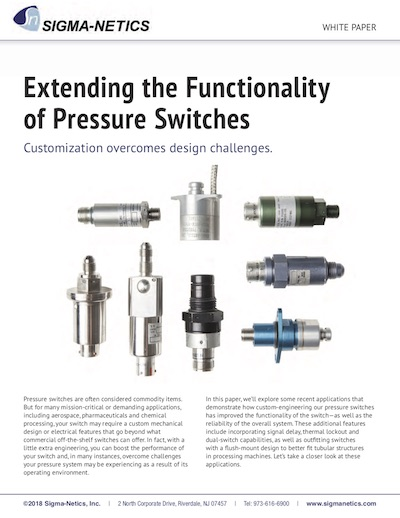 New Paper Explores How Pressure Switch Customizations Overcome Design Challenges