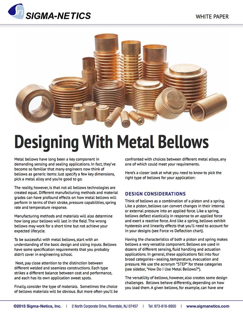 Designing With Metal Bellows
