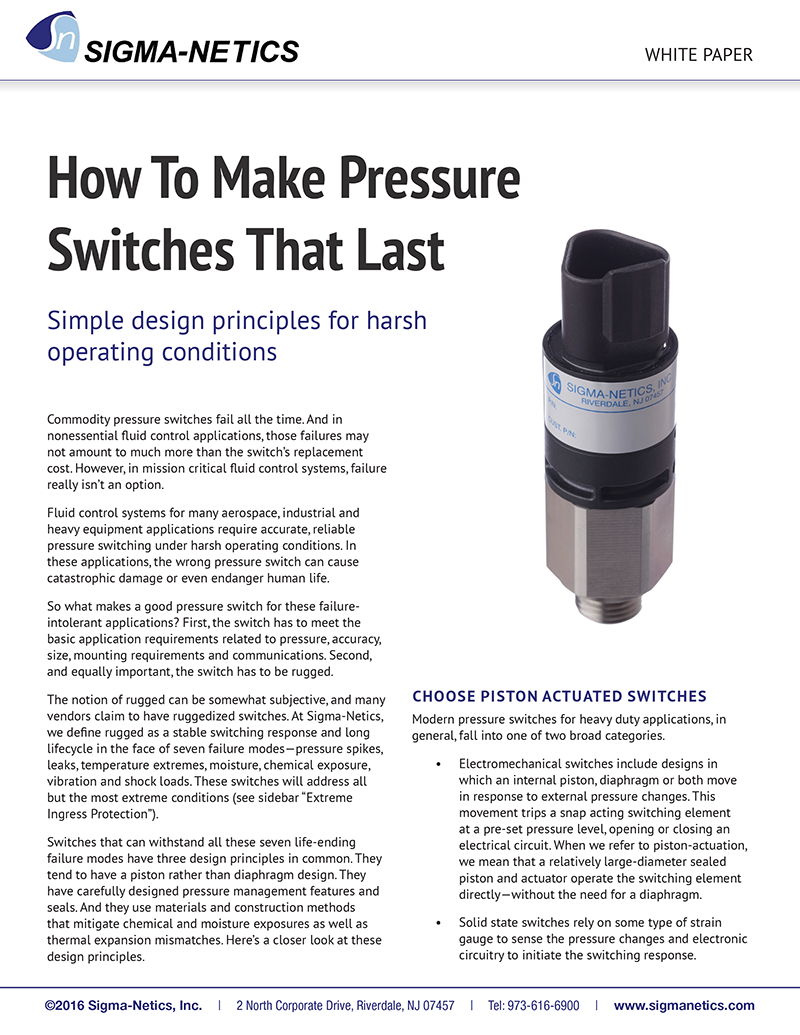 How To Make Pressure Switches That Last