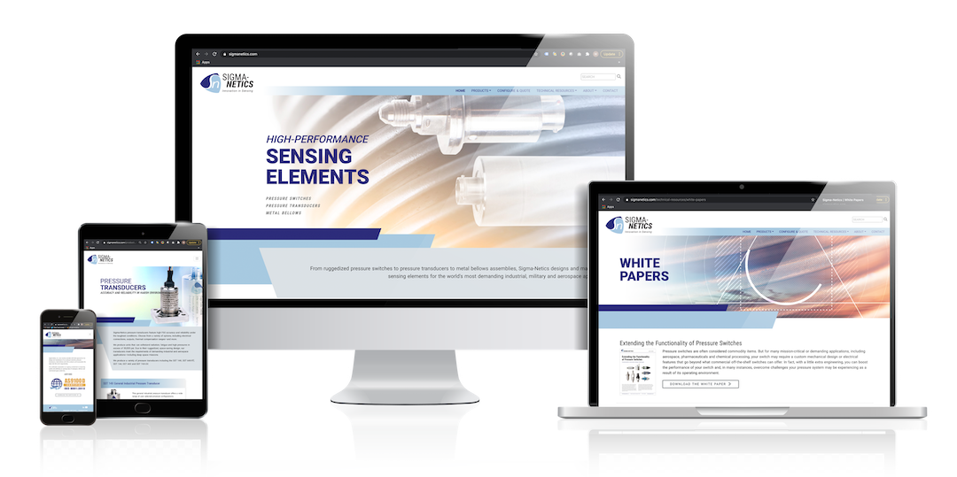 Sensing Elements Take Front and Center On Our New Website