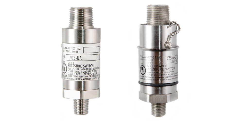 UL-Rated 703-U/UJ Pressure Switches Achieve Long Life in Explosive Environments